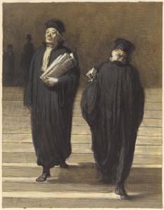 Daumier Les deux confrères